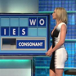 Rachel Riley 8 Out Of 10 Cats Does Countdown 9th January 2015 Very Short Sparkly Minidress