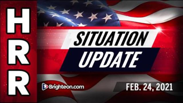Situation Update, Feb. 24th, 2021 - The Biden Blowout & The Final Looting of America! - Mike Adams Must Video