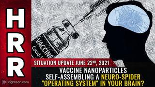 """Situation Update, 6/22/21 - Vaccine Nanoparticles Self-Assembling a Neuro-Spider """"OS"""" in Your Brain? - Mike Adams Video"""