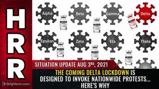 Situation Update, 8/3/21 - The Coming Delta Lockdown Is Designed To Invoke Nationwide Protests! - Must Video