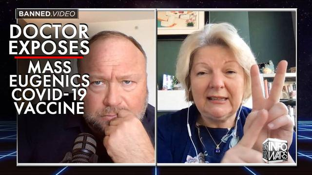 Dr. Sherri Tenpenny Exposes 10 Deadly Dangers of Pzifer/Johnson & Johnson Covid-19 Vaccines! - Alex Jones - Must Video