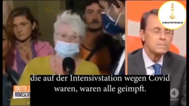 Italienische Krankenschwester entlarvt Covid-Krankenhaus-Lügen im Live-TV