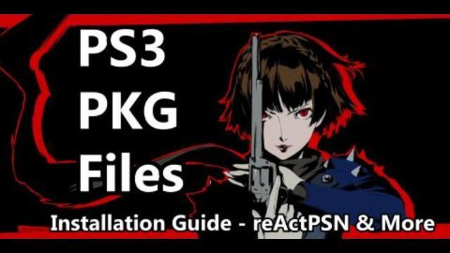 Installing PKG Files on a CFW PS3: reActPSN Guide