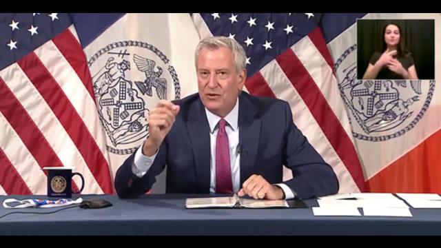 Breaking: NYC Mayor Bill de Blasio announces VACCINE MANDATE...