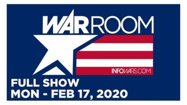 WAR ROOM (FULL SHOW) MONDAY 2/17/20 • SAVANAH, GREG, LEO ZAGAMI, KAITLIN BENNETT, CAMERAMAN DREW