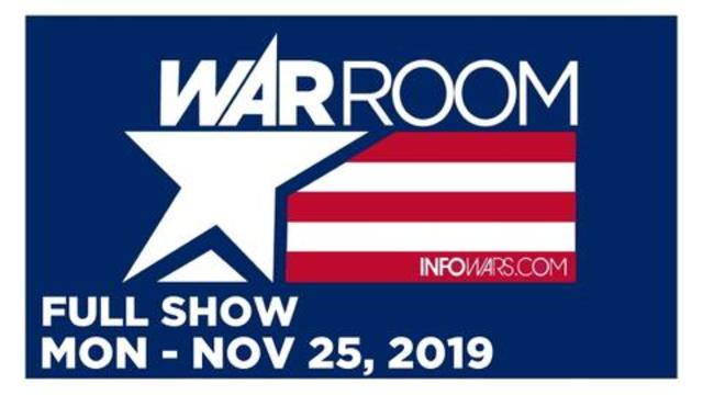 WAR ROOM (FULL SHOW) Monday 11/25/19 • Zach Vorhies, Rob Dew, News & Analysis • Infowars