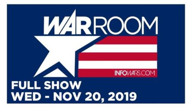 WAR ROOM (FULL SHOW) WEDNESDAY 11/20/19 • ALEX BULLHORNS TRUMP & TIM COOK, NEWS, CALLS & ANALYSIS