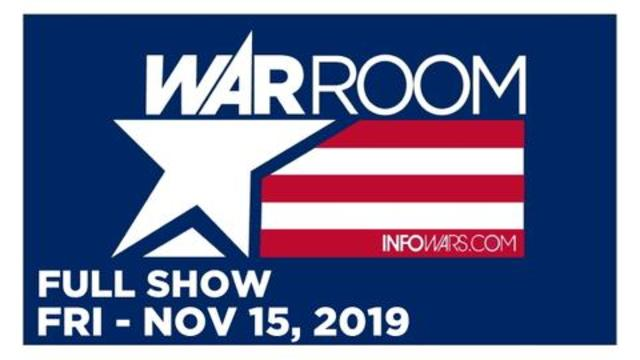WAR ROOM (FULL SHOW) FRIDAY 11/15/19 • ROGER STONE VERDICT, TYLER NIXON, NORM PATTIS, LEE STANAHAN