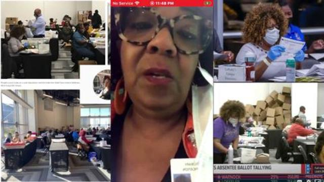 Ruby Freeman of Fulton county Ga shown committing voter felonies on  recordings
