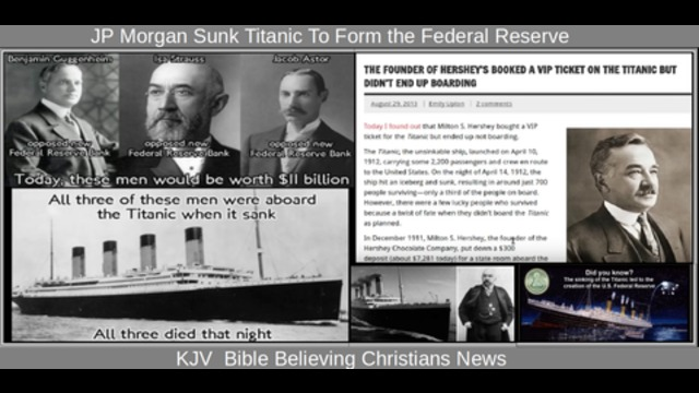 jp morgan sunk titanic to form the federal reserve