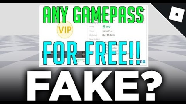 How To Get Gamepasses For Free On Roblox 2017 You Can Get Free Gamepasses In Roblox