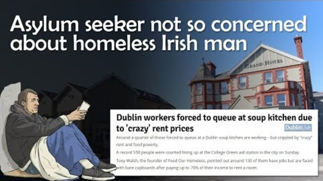 Asylum seeker shows no concern for homeless man outside her window