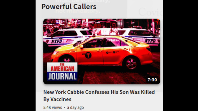 Taxi driver speaks out about vaccin