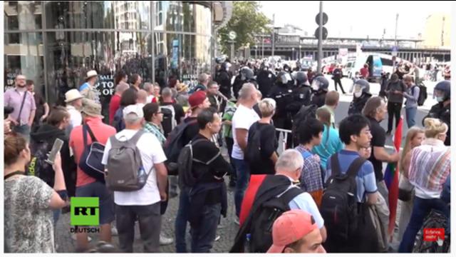 Demonstratie Berlijn 29 augustus