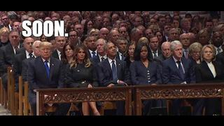 What Was In The Envelopes At George Bush's Funeral? Answer Coming Soon! Hint: Follow The Wives! - Must Video