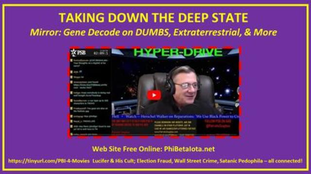 Robert David Steele - Mirror: Gene Decode & Hyper Drive! - Must Video