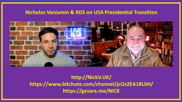 Robert David Steele: Jan 21, 2021 Nicholas Veniamin On USA Presidential Transition! - Must See Video
