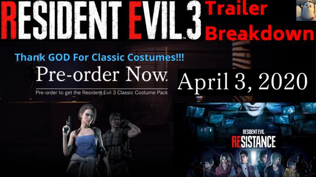 Resident Evil 3 Remake Announcement Special Message Trailers Thoughts And Reactions