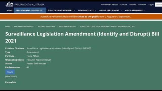 WTF??? Australian Identify and Disrupt Bill 2021