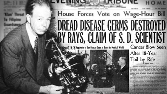 WILL MAINSTREAM MEDICAL SCIENCE BE FORCED TO ADMIT ROYAL RIFE WAS RIGHT? BY TRUTHSTREAM MEDIA