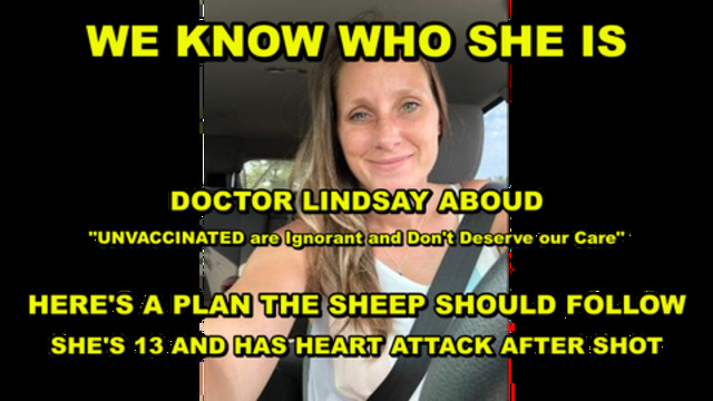 We Know Who She Is!! Hospitals Covering-Up The Truth!! Forced Vaccination!! Lesson For The Sheep!! - Must Video